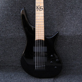 Ibanez Fieldy K5 Limited Edition Black 5 String Active Electric Bass