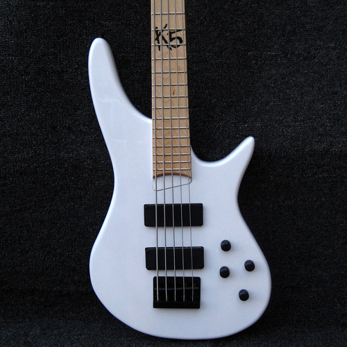 Ibanez Fieldy K5 Limited Edition White 5 String Active Electric Bass
