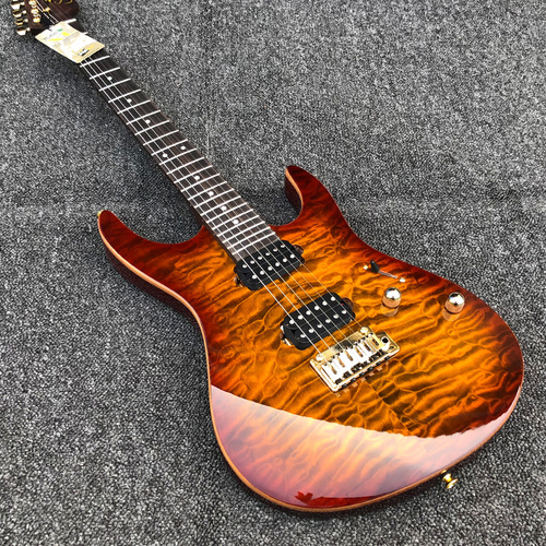 Rosewood neck Modern Pro sunburst quilted maple HH TUSQ Nut Suhr Electric Guitar