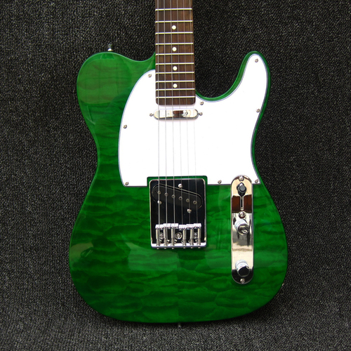 Emerald Green custom shop Quilted Maple Top Telecaster Electric Guitar