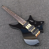 Black Neck Through Swamp Ash Body Top Strandberg Headless 6 StringElectric Guitar