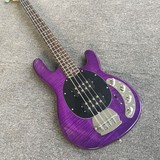 Sting Ray 4 String Flame Maple Purple Active Pickups Electric Bass