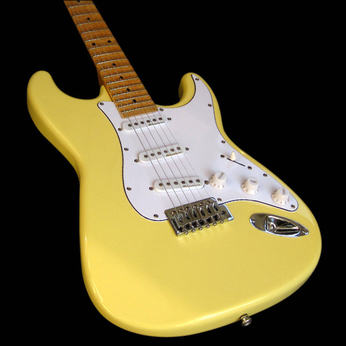 Yngwie Malmsteen Scalloped Maple Fretboard SSS Noiseless Pickups Cream Stratocaster Electric Guitar