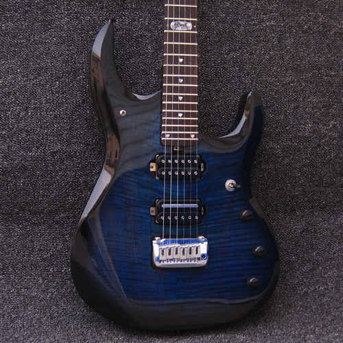 JP6 Johnpetrucci Coil Split Flame Koa Top Manhattan Midnight Blue Musicman Ernieball Electric Guitar