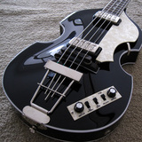 HCT 500-1 Contemporary Black 4 String Violin Hofner Electric Bass