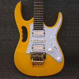 Yellow Ibanez Jem 7V Steve Vai Gold Hardware Electric Guitar