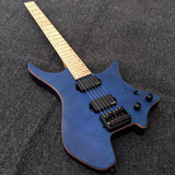 Blue Boden Flame Maple Top Strandberg Headless 6 StringElectric Guitar