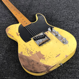 Cream Honey Relic Jeff Beck Esquire Custom Shop Alder Body Telecaster Electric Guitar